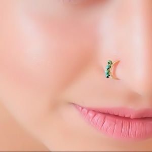 Bohemian Beaded Nose Ring Cartilage Hoop Earring